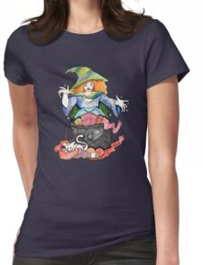 Knitting Witch  Womens Fitted T-Shirt