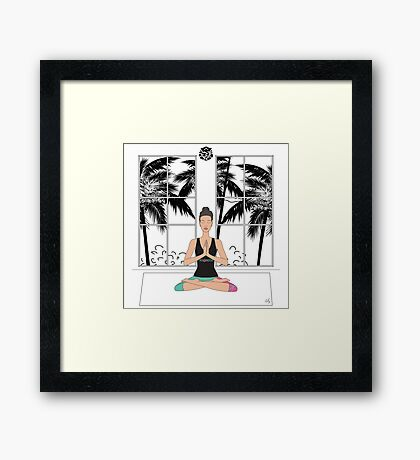 Yoga Girl.. Framed Print