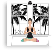 Yoga Girl.. Canvas Print