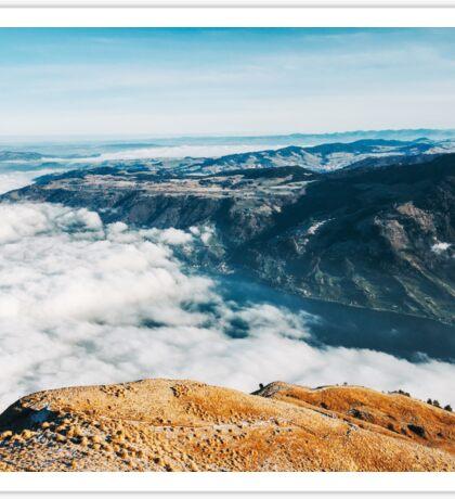 Central Switzerland Panorama - Sea of Fog Covering Lake Zug Sticker