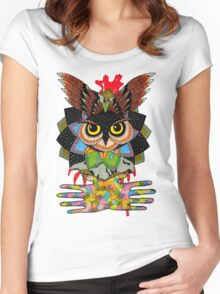 The owls are still not what they seem Women's Fitted Scoop T-Shirt