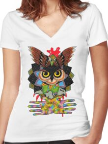 The owls are still not what they seem Women's Fitted V-Neck T-Shirt