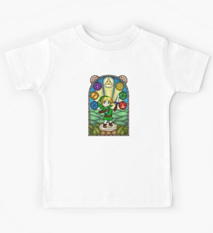 Ocarina of Time Stained Glass Kids Tee