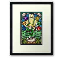 Ocarina of Time Stained Glass Framed Print