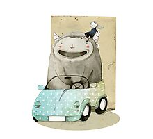 Monster In A Car Photographic Print