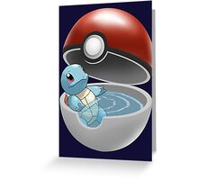 Squirtle Pokeball Greeting Card