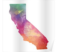 California Water Color Poster