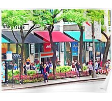 Chicago IL - Shopping Along Michigan Avenue Poster