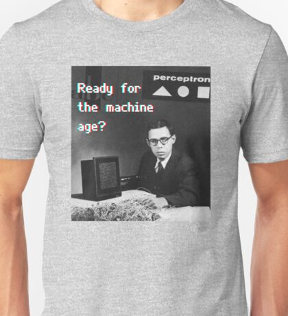 Ready for the machine learning age? (8-bit 3D) Unisex T-Shirt