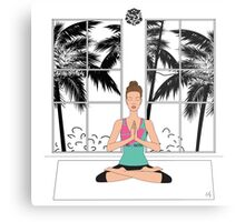 Yoga Girl... Metal Print