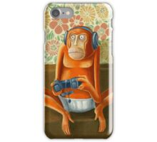 Monkey play iPhone Case/Skin