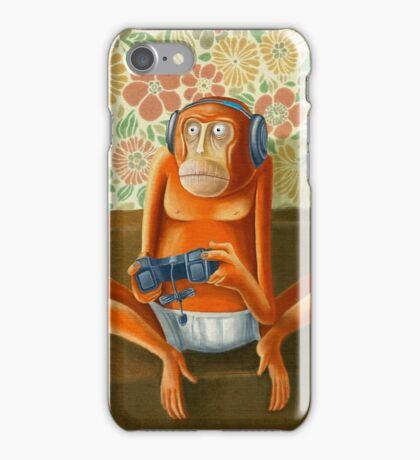 Monkey play iPhone Case/Skin