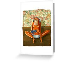 Monkey play Greeting Card
