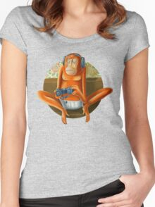 Monkey play Women's Fitted Scoop T-Shirt