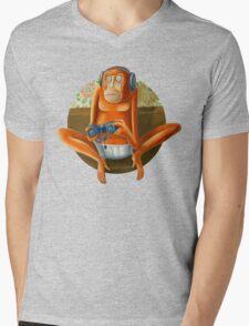 Monkey play Mens V-Neck T-Shirt