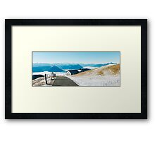 Swiss Alps - Mountains of Central Switzerland Panorama Postcard Framed Print