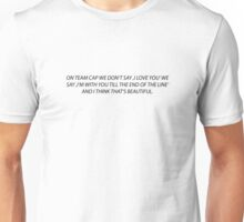 TILL THE END FO THE LINE TEAM CAP Unisex T-Shirt