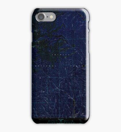 USGS TOPO Map California CA Rush Creek Lakes 294852 1982 24000 geo Inverted iPhone Case/Skin