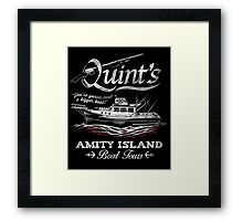 Quint's Boat Tours Framed Print