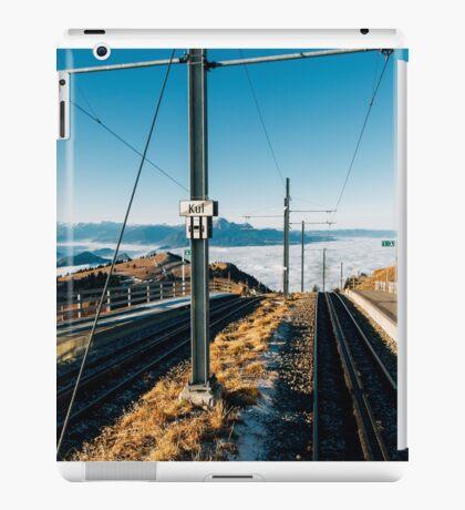 Central Switzerland - Rigi Kulm Top Station on Clear Sunny Winter Day iPad Case/Skin
