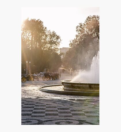 Plaza de Espana and its fountain  Photographic Print