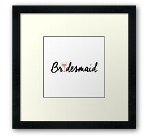 Bridesmaid Framed Print