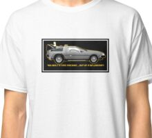 Back to the Future delorean time travel machine Classic T-Shirt