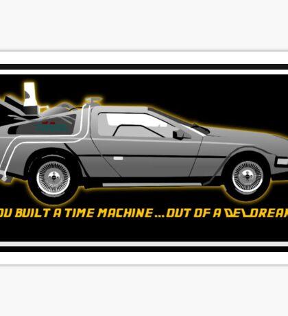 Back to the Future delorean time travel machine Sticker