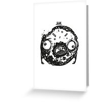 Zombie Donut - by Mien Wayne Greeting Card