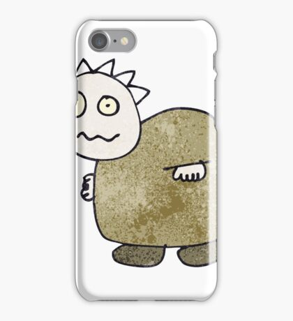child's drawing of a zombie iPhone Case/Skin