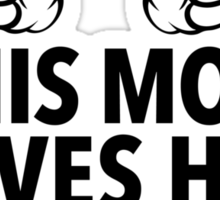 Funny 'This Mom Loves Her Basketball Kid' T-Shirt & Accessories Sticker