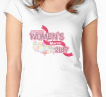 Million Women´s March 2017 - Women´s Rights Women's Fitted Scoop T-Shirt