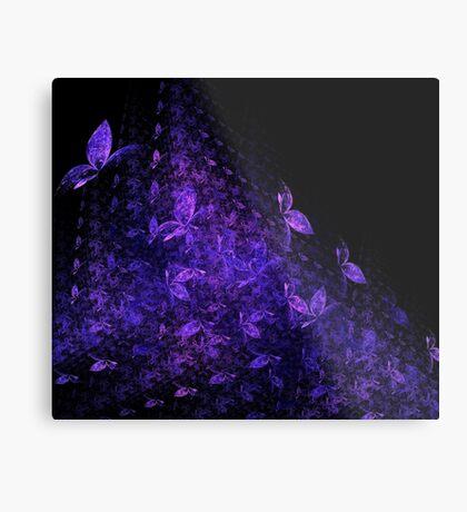 Pink Blue Butterflies Metal Print