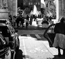 Catching a Cab at Washington Square Park by Mark Jackson