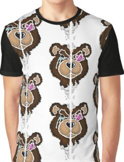 (Stencil) Damaged Teddy  Graphic T-Shirt
