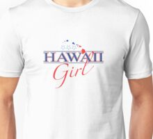 Hawaii Girl - Red, White & Blue Graphic Unisex T-Shirt