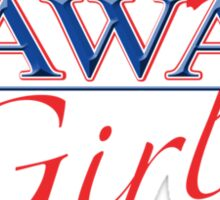 Hawaii Girl - Red, White & Blue Graphic Sticker