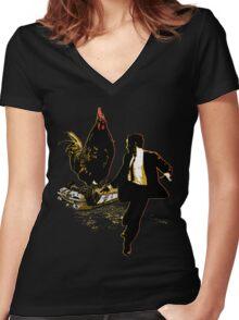 Free-Range Behemoths 2 Women's Fitted V-Neck T-Shirt