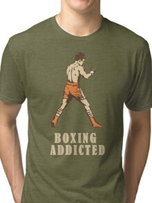 Boxing t-shirt (Old school)  Tri-blend T-Shirt