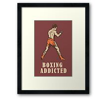 Boxing t-shirt (Old school)  Framed Print