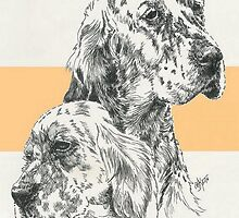 English Setter Father & Son by BarbBarcikKeith