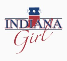 Indiana Girl - Red, White & Blue Graphic by SandpiperDesign