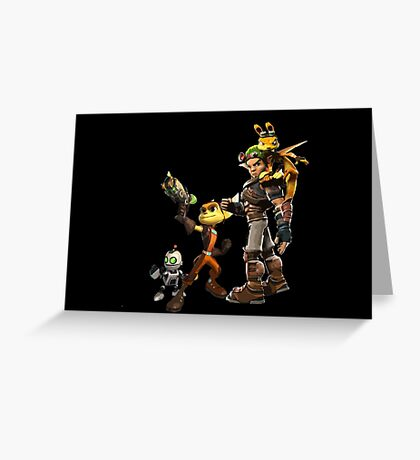Jak and Daxter and Ratchet and Clank  Greeting Card
