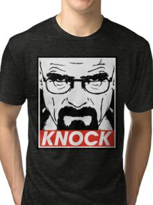 Heisenberg Breaking Bad Fanart - Knock by Mien Wayne Tri-blend T-Shirt
