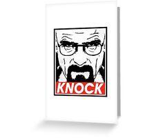 Heisenberg Breaking Bad Fanart - Knock by Mien Wayne Greeting Card