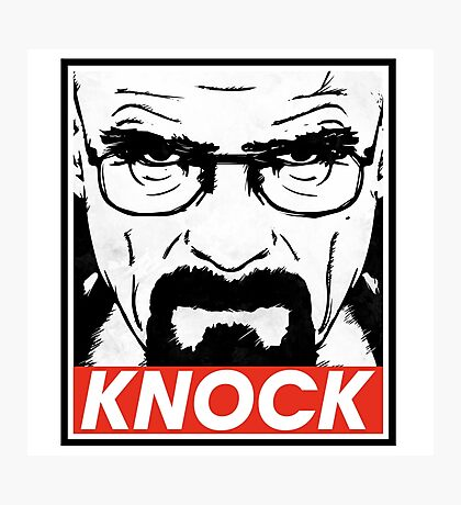 Heisenberg Breaking Bad Fanart - Knock by Mien Wayne Photographic Print