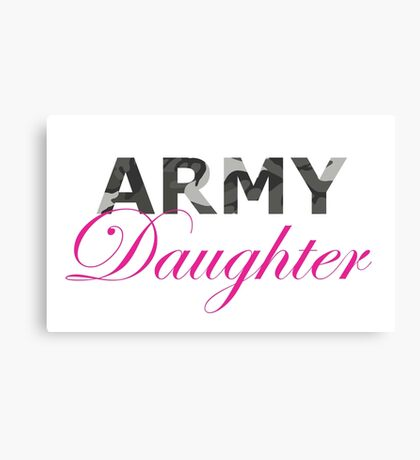 Army Daughter Canvas Print