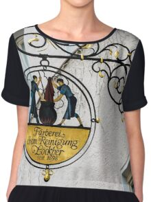 Fussen Old Town Merchant Sign - Germany Chiffon Top