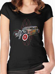 Pinstripe RAT 505 Women's Fitted Scoop T-Shirt