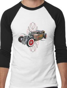 Pinstripe RAT 505-a Men's Baseball ¾ T-Shirt